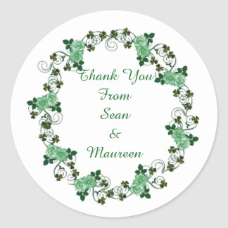 Irish Thank you sticker for favours