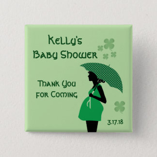 Irish theme baby bump buttons personalized