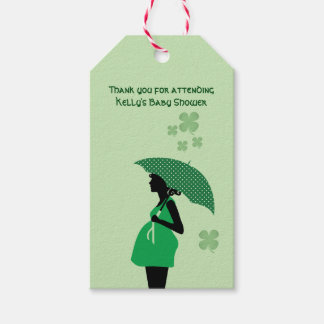 Irish theme baby bump gift tags personalized