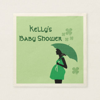 Irish theme baby bump personalized cocktail napkin paper napkin