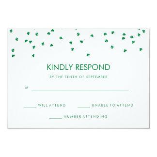 Irish Theme Shamrock Confetti | Wedding Response Card