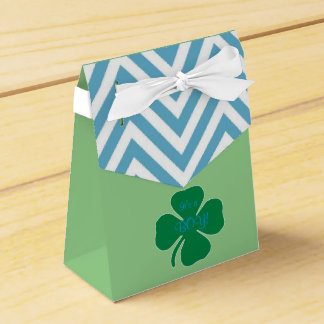 Irish themed baby shower Favor Box