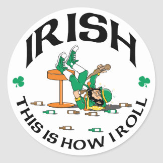 Irish This Is How I Roll Gift Classic Round Sticker