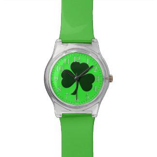 Irish Three Leaf Clover Design Watch