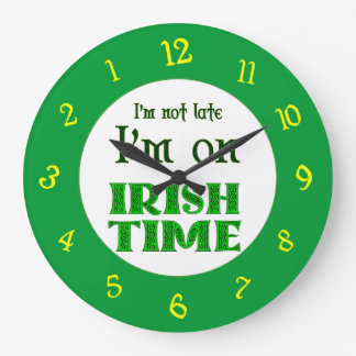 Irish Time Backwards Numbers Clock