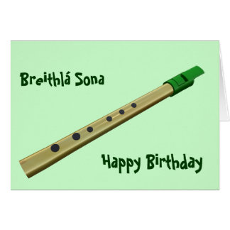 Irish Tin Whistle Birthday Card