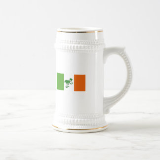 Irish Toast/Irish Flag+Leprechaun Beer Stein