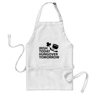 irish today hungover tomorrow st. patrick´s day standard apron