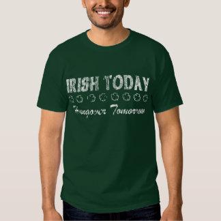 Irish Today Hungover Tomorrow Tees