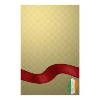 Irish touch fingerprint flag personalized stationery