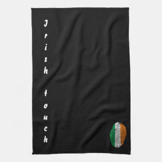 Irish touch fingerprint flag tea towel