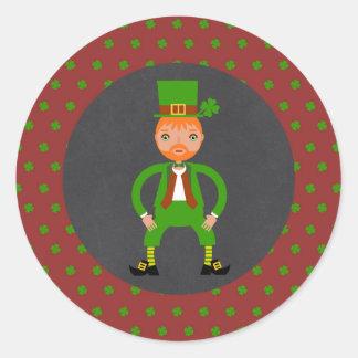 Irish Traditions Kids Birthday Party Classic Round Sticker