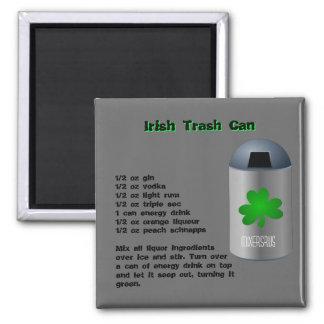 Irish Trash Can Drink Recipe Square Magnet