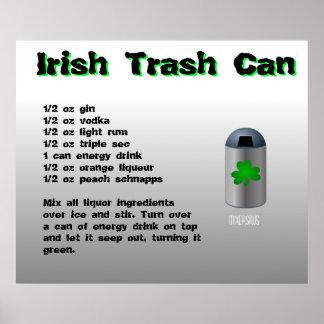 Irish Trash Can Drink Recipe Poster