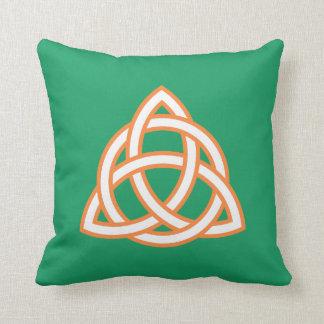 Irish Trinity Knot Triquetra Celtic Patricks Day Cushion