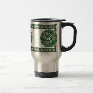 Irish Triskel Spiral Celtic Mugs