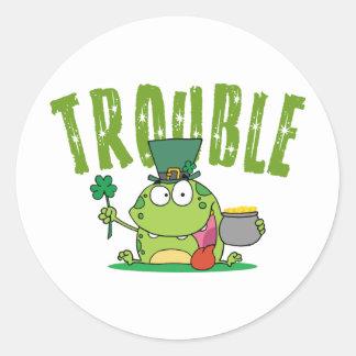Irish Trouble Gift Stickers