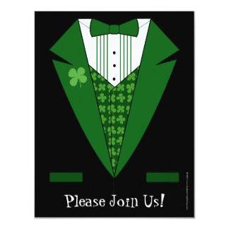 Irish Tuxedo St. Patrick's Day Party Invitations