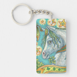 IRISH UNICORN ST. PATRICK'S DAY KEYCHAIN Rectangle