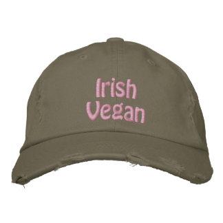 Irish Vegan, St. Patrick's Day, Pink Green Embroidered Hat