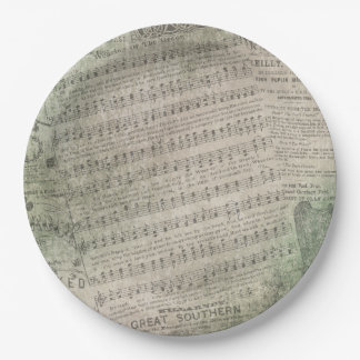Irish Vintage Sheet Music, Wearing of the Green Paper Plate