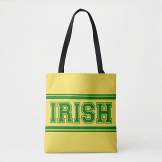 Irish Vintage Varsity Tote Bag