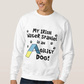 Irish Water Spaniel Agility Dog Sweatshirt