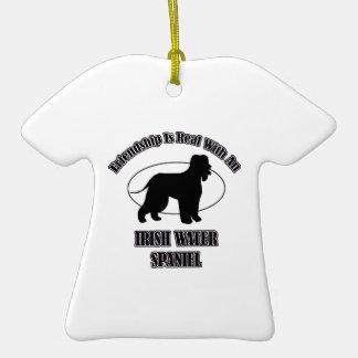 IRISH WATER SPANIEL DOG DESIGNS CHRISTMAS ORNAMENT