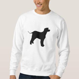 irish water spaniel silo black sweatshirt