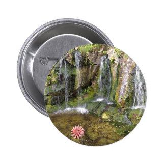 Irish Waterfalls In Blarney Castle Garden Ireland 6 Cm Round Badge