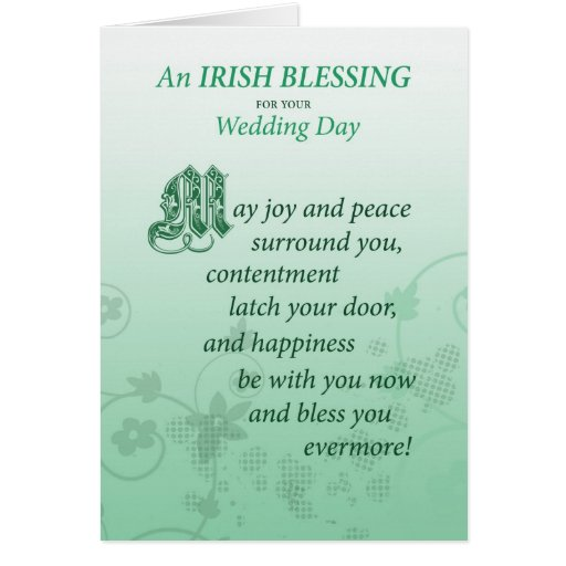 Irish Wedding Blessing Gifts: Irish Wedding Blessing Congratulations Card