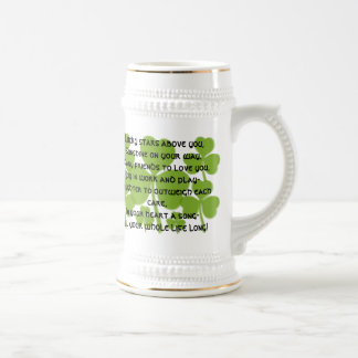 Irish  Wedding Blessing Stein