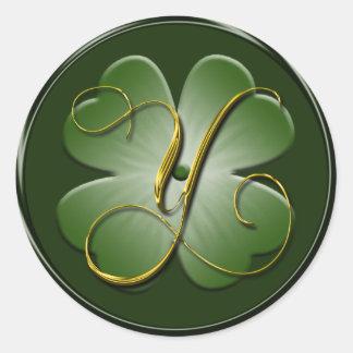 Irish Wedding Monogram Y Envelope Seal Stickers
