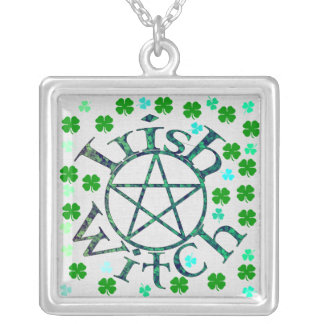 Irish Witch Silver Plated Necklace