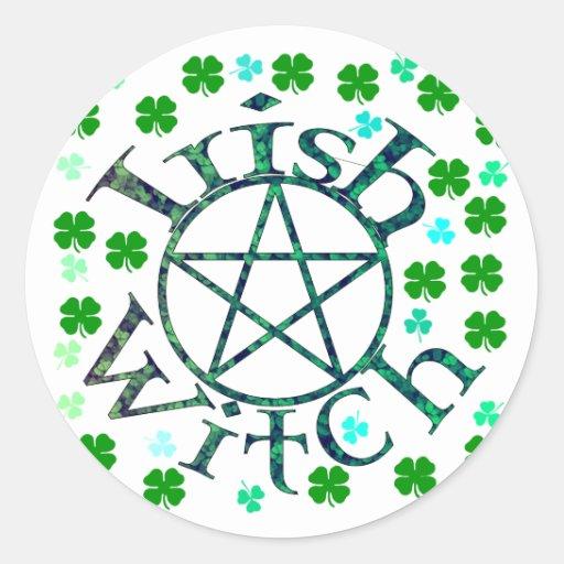Irish Witch Round Sticker