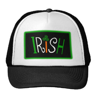 Irish With Triskelion Celtic Symbol And Background Cap