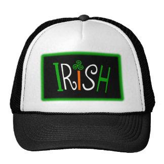 Irish With Triskelion Celtic Symbol And Background Hat
