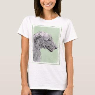 Irish Wolfhound 2 Painting - Cute Original Dog Art T-Shirt