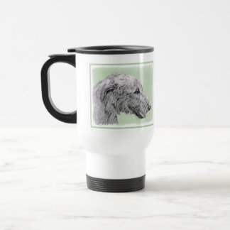 Irish Wolfhound 2 Painting - Cute Original Dog Art Travel Mug