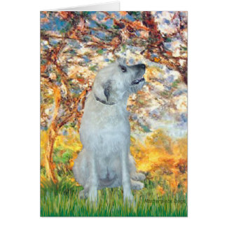 Irish Wolfhound 4 - Spring Card