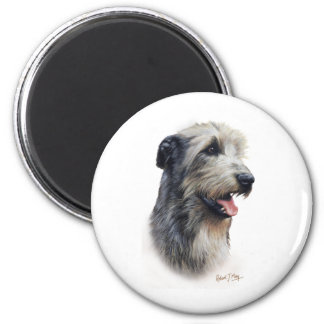 Irish Wolfhound 6 Cm Round Magnet