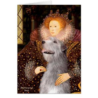 Irish Wolfhound 6 - Queen Card