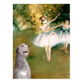 Irish Wolfhound 6 - Two Dancers Postcard
