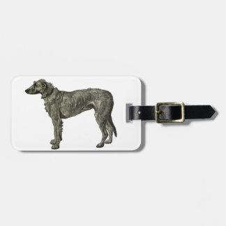 Irish wolfhound bag tags