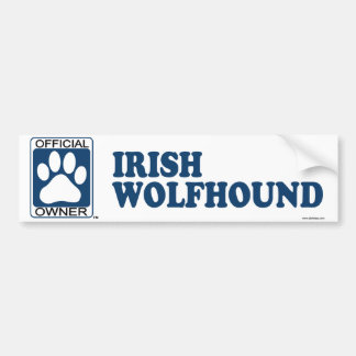 Irish Wolfhound Blue Bumper Stickers