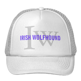 Irish Wolfhound Breed Monogram Hats