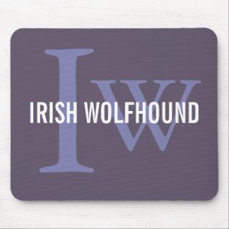 Irish Wolfhound Breed Monogram Mouse Pad