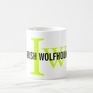Irish Wolfhound Breed Monogram Coffee Mug