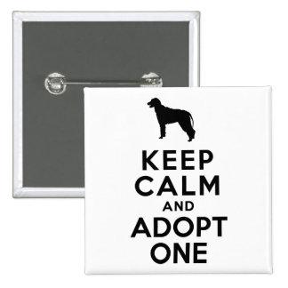 Irish Wolfhound Button