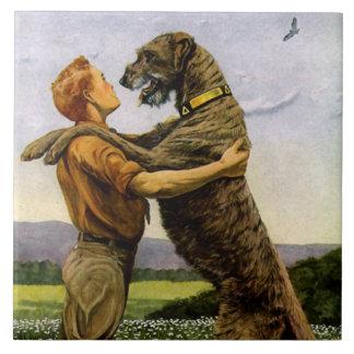 Irish Wolfhound Ceramic Tile